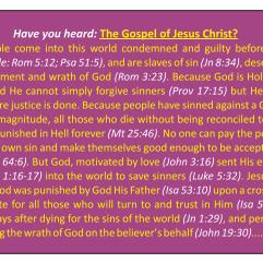 "Our free ""have you heard the Gospel of Jesus Christ?"" Gospel tract"